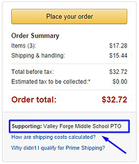 Amazon Smile Order Summary