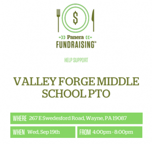 Panera fundraiser @ Panera in Gateway shopping center | Wayne | Pennsylvania | United States